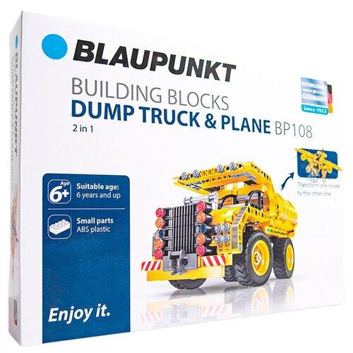 Купить Конструктор Blaupunkt Building Block BP108 Dump Truck & Plane 2 in 1, Конструкторы