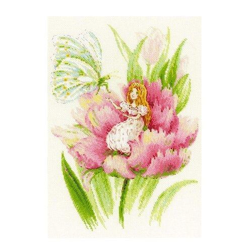 Купить Риолис Набор для вышивания бисером и нитками Дюймовочка 21 х 30 см (1735), Наборы для вышивания