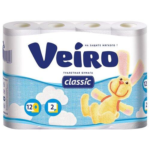 Купить Туалетная бумага Veiro Classic белая двухслойная 12 рул.