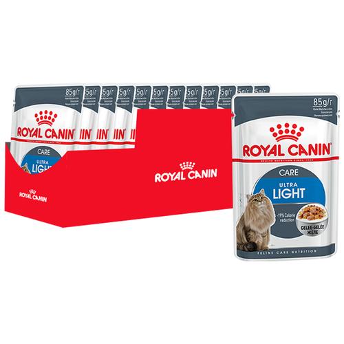 Влажный корм для кошек Royal Canin Light Weight Care (низкокалорийный), профилактика избыточного веса 12 шт. х 85 г (кусочки в желе)