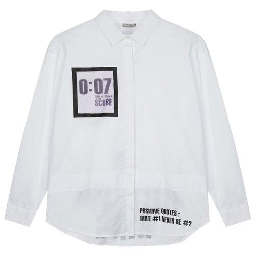 Купить Рубашка Gulliver размер 134, белый, Рубашки и блузы