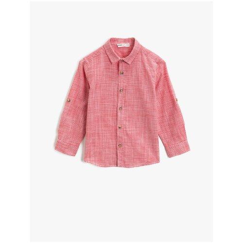 Рубашка KOTON размер 6-7 лет (116-122), красный