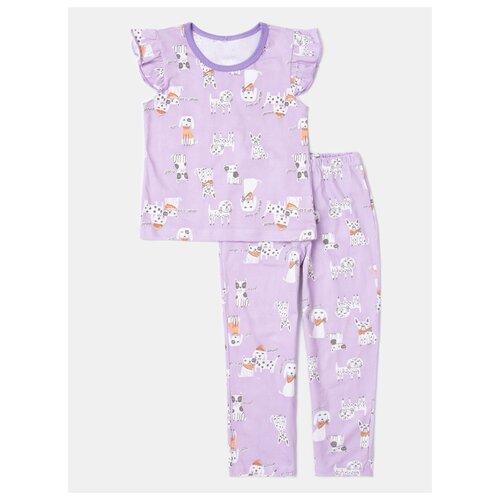 Купить Пижама KotMarKot размер 122, сиреневый, Домашняя одежда