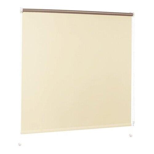 Фото - Рулонная штора Brabix миниролло Блэкаут кремовый, 60х175 см штора рулонная brabix 55х175 см текстура лен защита 55 85% 200 г м 2 кремовый s 21 605978