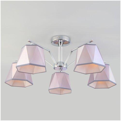 Люстра Eurosvet Corner 60076/5 хром, E14, 200 Вт настенный светильник евросвет corner 60076 1 хром
