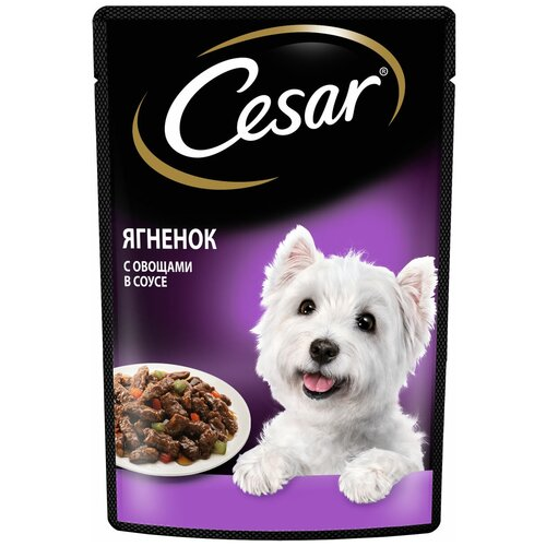 Фото - Влажный корм для собак Cesar ягненок, с овощами 85 г (для мелких пород) корм для собак cesar курица с зелеными овощами 100 г