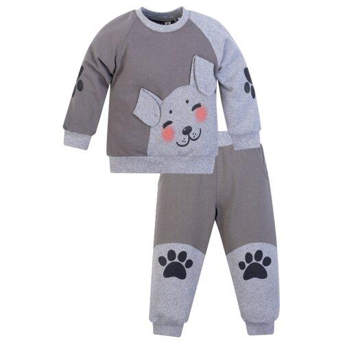Комплект одежды Утенок размер 86, серый/меланж