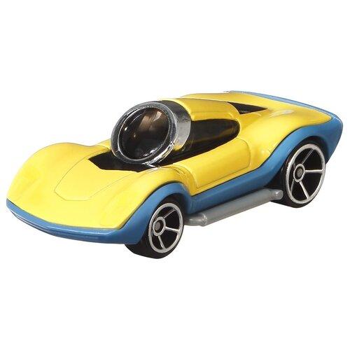 cars машинка гоняй и сталкивайся круз рамирес Машинка Hot Wheels Character cars Minions Carl (GMH74/GMH76) 1:64, желтый