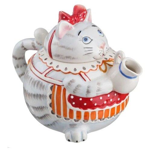 Фото - Lefard Заварочный чайник Кошка 59-630 1000 мл, серый фарфоровый заварочный чайник паркур 1000 мл