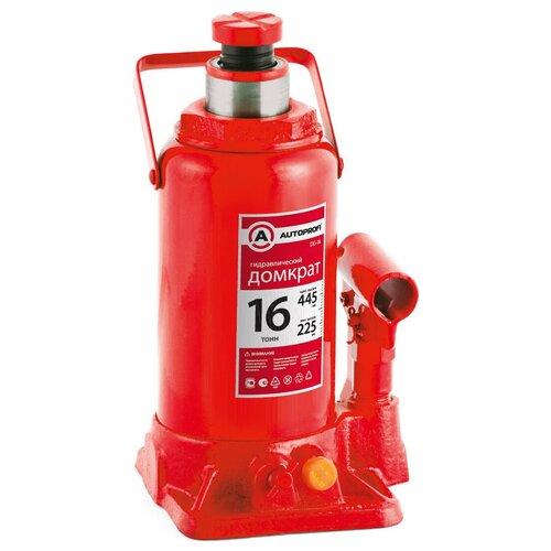 Фото - Домкрат бутылочный гидравлический AUTOPROFI DG-16 (16 т) красный аксессуары для автомобиля autoprofi домкрат бутылочный гидравлический 2 тонны dg 02k