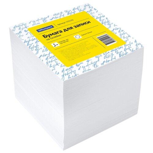 Купить OfficeSpace Блок для записи на склейке 9х9х9 см, белизна 92%, 1000 листов (153170) белый, Бумага для заметок