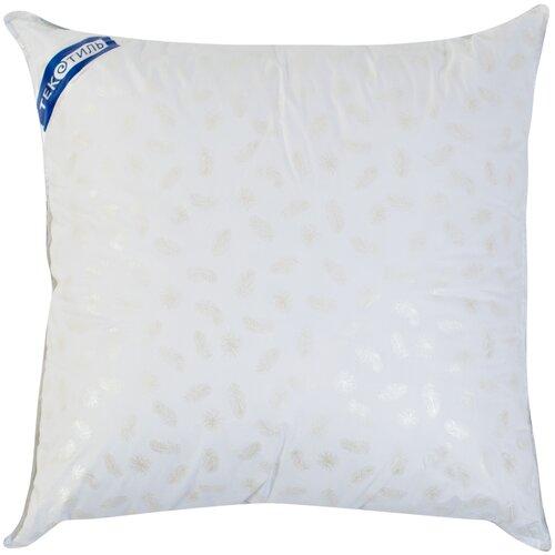 Подушка ТекСтиль Лебяжий пух 70 х 70 см белый