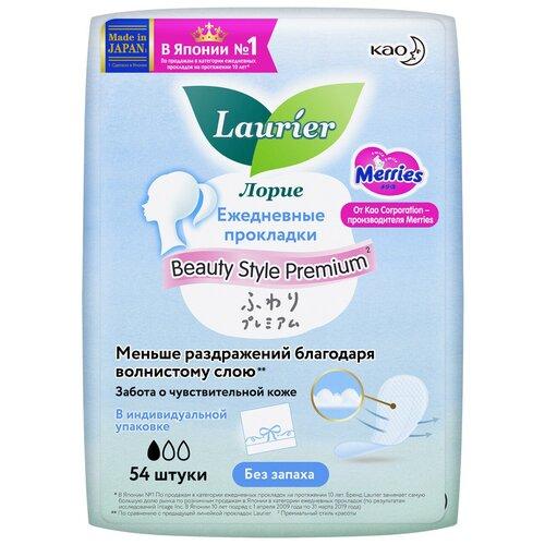 Laurier прокладки ежедневные Beauty Style Premium без запаха, 1 капля, 54 шт.