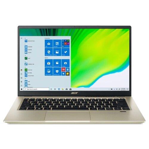 "Ноутбук Acer SWIFT 3x SF314-510G-7412 (Intel Core i7 1165G7 2800MHz/14""/1920x1080/16GB/1024GB SSD/Intel Iris Xe Graphics 4GB/Windows 10 Home) NX.A10ER.007 золотой"