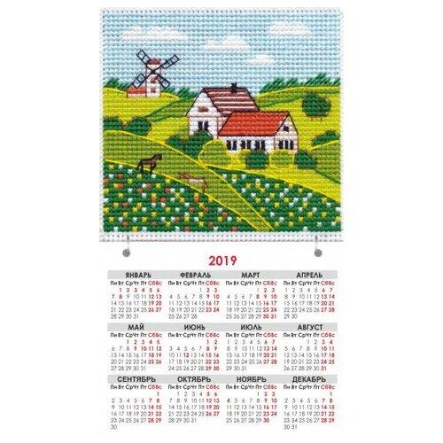 Овен набор для вышивания магнит-календарик Времена года. Лето 9.5 х 9.5 см (1113)