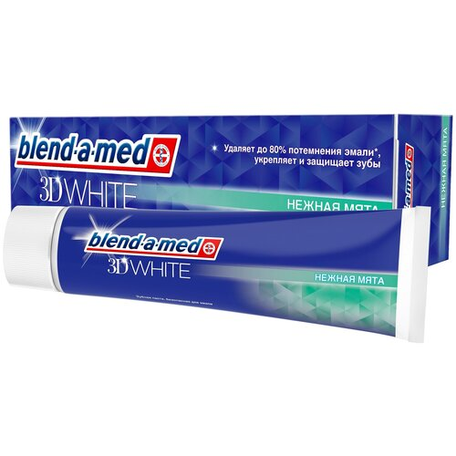 Фото - Зубная паста Blend-a-med 3D White Нежная мята, 100 мл зубная паста blend a med экстра свежесть 100 мл