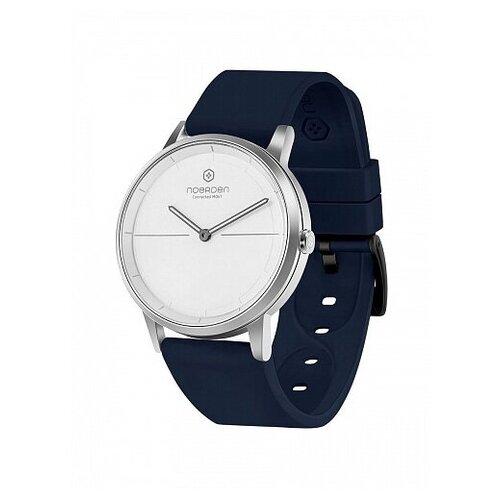 Смарт-часы Noerden гибридные MATE2 синий ремешок, белый циферблат