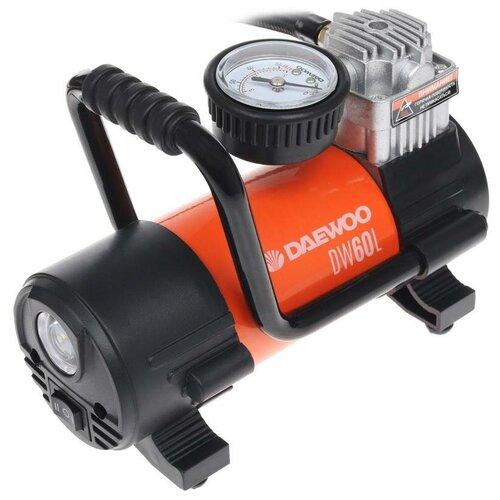 Фото - Автомобильный компрессор Daewoo Power Products DW60L черный/оранжевый пылесос автомобильный daewoo power products davc100 черный оранжевый
