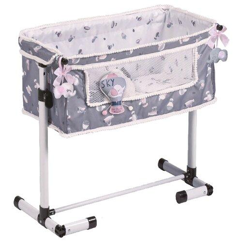 Купить 51235 Кроватка для куклы серии Скай, с опускающимся бортиком, 50см, DeCuevas, Мебель для кукол