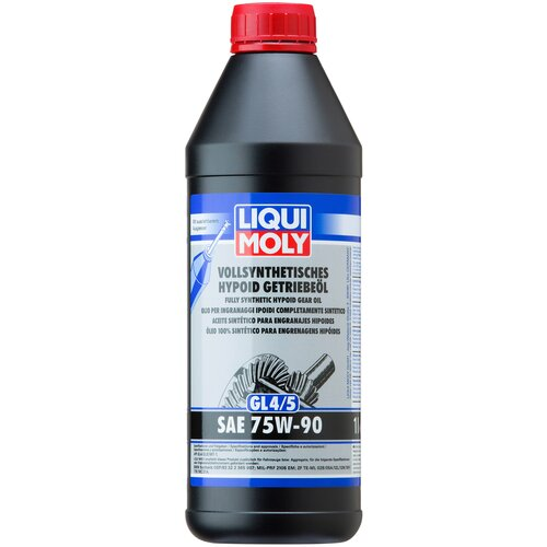 Трансмиссионное масло LIQUI MOLY Vollsynthetisches Hypoid-Getriebeoil 75W-90 1 л