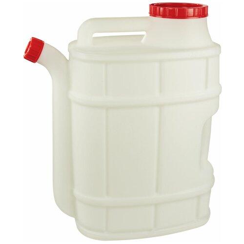 Канистра Альтернатива Бочонок со сливом М1282, 20 л, белый канистра пластиковая со сливом альтернатива м427 15 л