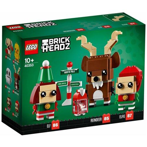 Конструктор LEGO BrickHeadz 40353 Олень и эльфы