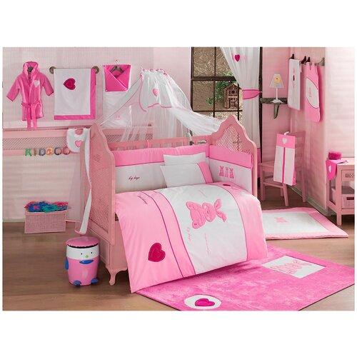 Купить Комплект Kidboo из 6 предметов серии Little Rabbit (Pink), Постельное белье и комплекты