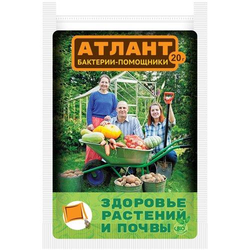 Удобрение Ваше хозяйство Атлант бактерии-помощники Здоровье растений и почвы, 0.02 кг