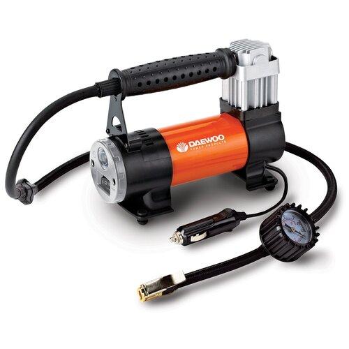 Фото - Автомобильный компрессор Daewoo Power Products DW75L черный/оранжевый пылесос автомобильный daewoo power products davc100 черный оранжевый