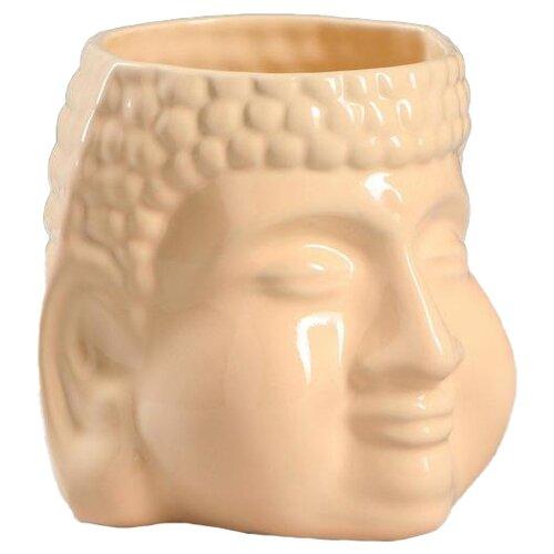 Кашпо Керамика ручной работы Будда 13 х 11 х 11 см кремовый по цене 428