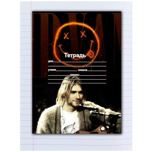 Купить Набор тетрадей 5 штук, 12 листов в линейку с рисунком NIRVANA Гитарист, Drabs, Тетради