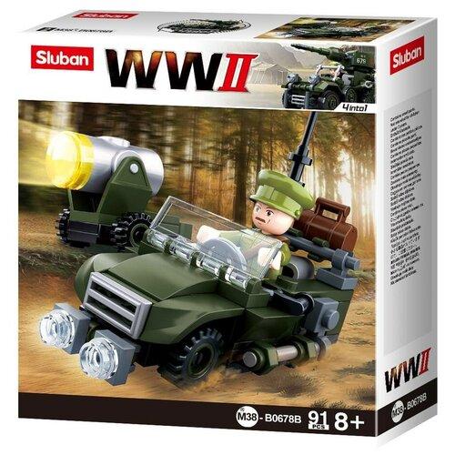 Конструктор SLUBAN WW2 M38-B0678B Военная техника конструктор sluban ww2 m38 b0682 газ 67