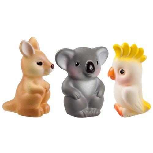 Купить Набор для ванной ОГОНЁК Австралия (С-1217) коричневый/серый/желтый, Игрушки для ванной