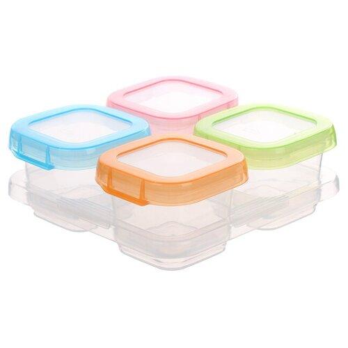 Купить Набор контейнеров на подставке, 4 шт, 120 мл 2593775, Mum&Baby, Посуда