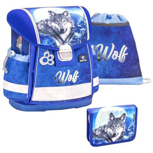 Купить Ранец Belmil Classy - Wolf, Волк, синий, с наполнением, Рюкзаки, ранцы