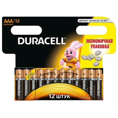Фото - Duracell Элемент питания алкалиновый LR MX 2400/LR03 BASIC BP-12 (блист.12шт) Duracell Б0014520 элемент питания navigator 94 750 nbt ne lr03 bp2