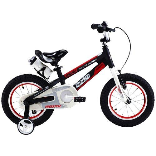 Детский велосипед Royal Baby RB16-17 Freestyle Space №1 Alloy Alu 16 черный (требует финальной сборки) двухколесные велосипеды royal baby freestyle space 1 alloy 14