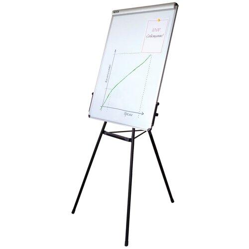 Доска-флипчарт магнитно-маркерная BRAUBERG 231720 100х70 см, белый/черный