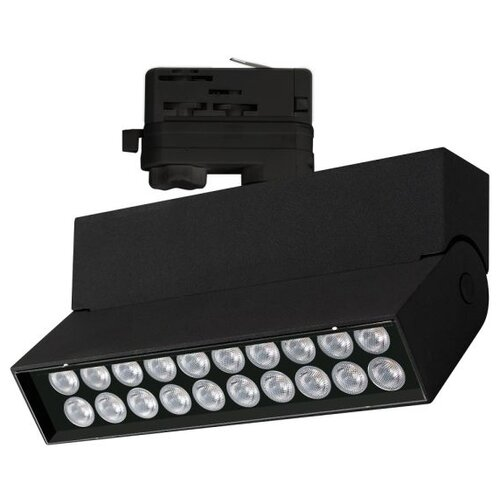 Трековый светильник-спот Arlight LGD-LOFT-TRACK-4TR-S170-20W White6000 (BK, 24 deg) трековый светильник спот arlight lgd loft track 4tr s170 20w white6000 wh 24 deg