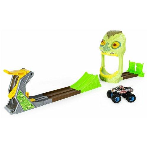 игрушечный трек улетные гонки охотник на зомби Игрушечный трек Monster Jam Зона Зомби, 6053298