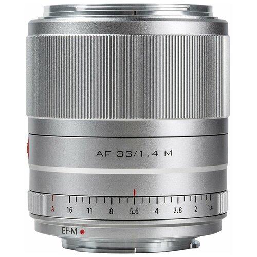 Фото - Объектив Viltrox AF 33mm f/1.4 EF-M серебристый объектив viltrox af 23mm f 1 4 ef m серебристый