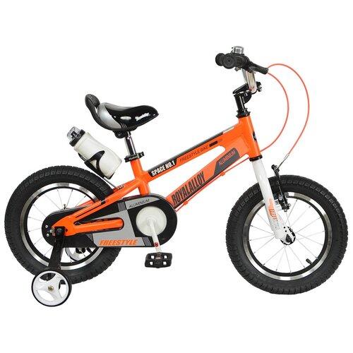 Детский велосипед Royal Baby RB14-17 Freestyle Space №1 Alloy Alu 14 оранжевый (требует финальной сборки) двухколесные велосипеды royal baby freestyle space 1 alloy 14