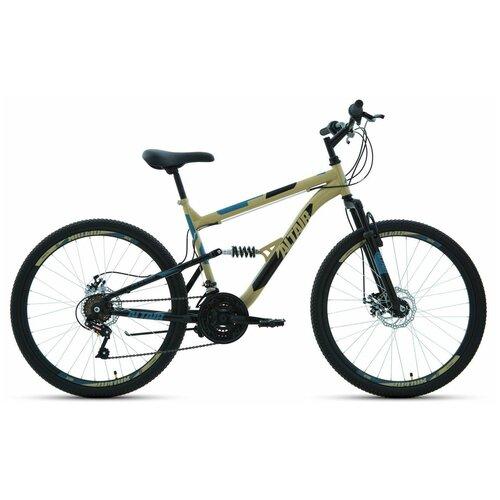 """Горный (MTB) велосипед ALTAIR MTB FS 26 2.0 Disc (2020) бежевый 16"""" (требует финальной сборки)"""