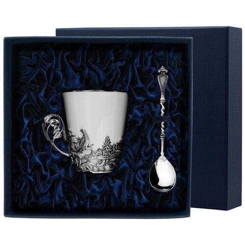 Фото - АргентА Набор чашка чайная Тетерев+ ложка (2 предмета) аргента набор чашка чайная виноград ложка 2 предмета