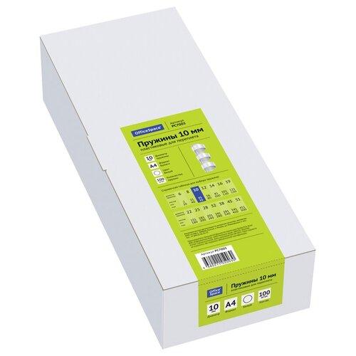Фото - Пружина OfficeSpace пластиковые 10 мм белый 100 шт. пружина officespace пластиковые 22 мм белый 50 шт