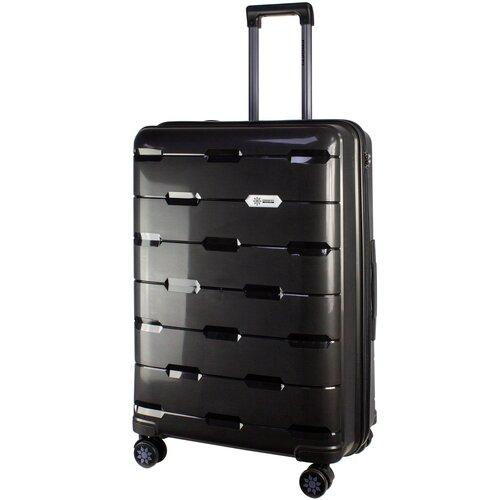 Фото - Чемодан PROFFI Tour Fashion L 98 л, черный чемодан proffi travel tour fashion 24 pp пластиковый средний 64 5х47х27 желтый