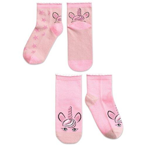 Купить Носки Pelican комплект 2 пары размер 18-20, розовый/лиловый(37/24)
