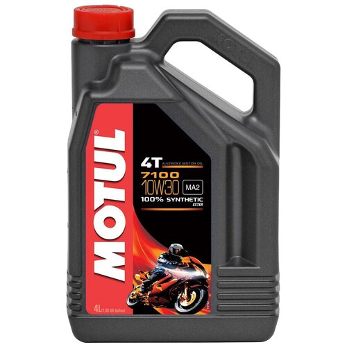 Синтетическое моторное масло Motul 7100 4T 10W30, 4 л