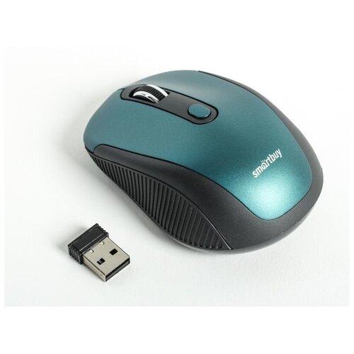 Фото - Беспроводная мышь SmartBuy SBM-357AG-B Black-Blue USB мышь smartbuy sbm 329 ky black yellow usb