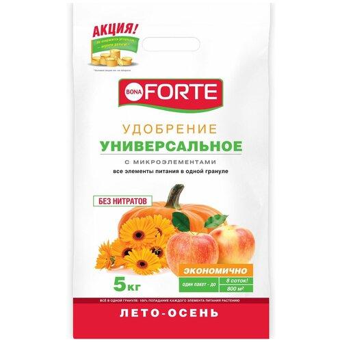 Удобрение BONA FORTE универсальное лето-осень, 5 кг удобрение robin green лето осень 5 кг